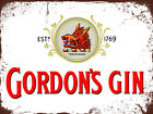 Metal wall signs plaques home Bar pub mancave vintage retro beer gin alcohol