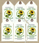 Hang Tags PRIMITIVE SUNFLOWER FEEDSACK TAGS 1257 Gift Tags