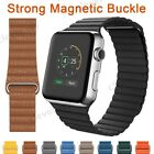 Magnetic Leather Loop Band Strap For Apple Watch Series 5 4 3 2 1 40/44/38/42mm image