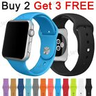 Sport Silicone Band Strap For iWatch Apple Watch Series 5 4 3 2 1 38 42 40 44 mm image