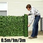 Au Artificial Green Outdoor Faux Plant Ivy Leaf Privacy Screen Fence Garden Yard