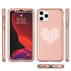 For Apple iPhone 11 360° Case Glass Screen Protector Leopard Print Love Heart