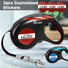 Automatic Retractable Dog Leash Heavy Duty Walking Leads  Personalized Sticker
