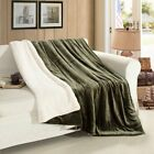 Sherpa Flannel Fleece Reversible Blanket Extra Soft Brush Fabric for Sofa Couch  image