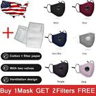 1/5/10x Protective Face Mouth Masks Reusable PM2.5 Respirator +2 Filters US Lot