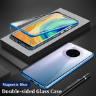 For Huawei Mate 30 Pro 20 10 Lite Magnetic Double Tempered Glass Case Full Cover