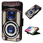 Retro Yashica Camera - Flip Phone Case Wallet Cover - Fits Iphones & Samsung