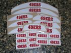 SAN FRANCISCO 49ERs Bumper Football Helmet Decal Set Qty (1) Set $6.99 USD on eBay