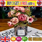 1 Bunch Rustic Retro Tea Rose Wedding Home Decor Flower Artificial Flowers At