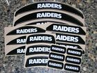 OAKLAND RAIDERS Black Bumper Football Helmet Decal Set Qty (1) Set FULL 3M 20MIL $6.99 USD on eBay
