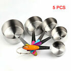 10Pcs Stainless Steel Measuring Cups & Spoons for Kitchen Baking Cooking Tools