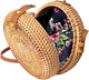 Wicker Purse Circle Straw Rattan Woven Shoulder Crossbody Bag Jannock Bags photo