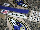 BALTIMORE RAVENS Football Helmet Decal Set w Numbers 3M 20MIL $34.99 USD on eBay