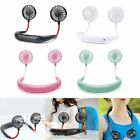 Portable USB Rechargeable Neckband Lazy Neck Hanging Dual Cooling Mini Fan