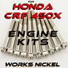 Works Nickel ENGINE Bolt Kit for Honda CRF 450X | Get the fasteners you need!