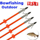 3/6x 32'' Bow Fishing Arrows Fiberglass Hunting Shooting Fish w/Safety Slides