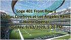 Kyпить 1-8 Tickets Rams vs Dallas Cowboys  2020 SOFI Stadium New LA Stadium Front Row на еВаy.соm