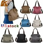 K2 Women's Casual Canvas Tote Cross Body Shoudler Bags Handbags Satchel Purse US image