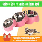 Plastic + Stainless Steel Pet Feeding Bowl Cat Bowl Small Animals Water Feeder