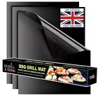 BBQ Mat Sheet Reusable Resistant Cooking Baking Barbecue Grill Mat Teflon UK