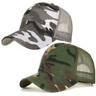 Trucker Hat Mesh Snapback Hats For Men Adjustable Size Hunting Army Camo Hat