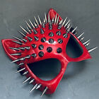 Red Steampunk Sexy Cat Woman Masquerade Spike Mask Cosplay Costume Dress up