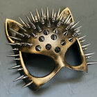Bronze Steampunk Sexy Cat Woman Masquerade Spike Mask Cosplay Costume Dress up