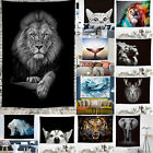 3D Animal Print Wall Hanging Tapestry Blanket Bedspread Throw Cover Home Decor