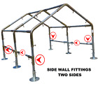 "Greenhouse Kit *FITTINGS ONLY* 1"" HIGH PEAK Canopy 10'x20'/30/40/50/60' Garden"