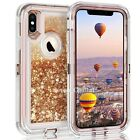 For iPhone X XR XS Max Defender Liquid Glitter Shockproof Case Fit Otterbox Clip