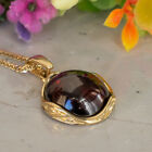 14K Solid Gold Garnet Vintage Style Pendant January Birthstone Jewelry Handmade
