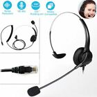US Noise Cancelling Microphone Headset Call Centre Office Telephone Corded PC