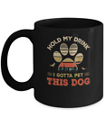 VibesPrints Vintage Hold My Drink I Gotta Pet This Dog Funny Lover Coffee Mug