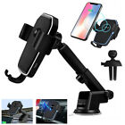 Qi Wireless Car Charger Mount Holder Stand Fast Charging For Cell Phone iPhone