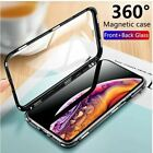 Magnetic Case for IPhone 11 Pro XR XS MAX X 8 7 6 6s Plus Tempered Glass Magnet