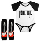 Motley Crue Infant Bodysuit Jersey Outfit Baby Leg Warmers Set Shower Gift
