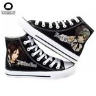 Anime Black Butler Sebastian Michaelis Unisex Cosplay Canvas Shoes Low Lace-Up
