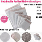FREE SHIPPING 5/20/50/100Pcs Poly Bubble Mailers Padded Envelopes Bags