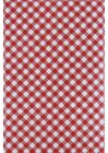 RED GINGHAM Vinyl Tablecloth Flannel Backing ASSORTED SIZES Small Check