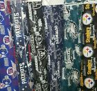 Nfl Cotton Fabric By The 1/4 Yard Steelers Raiders Dallas Eagles 44