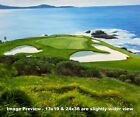 Pebble Beach Golf Links Club Hole 7 golf course oil painting art print 2550