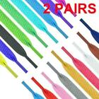 1m Shoelaces Colorful Coloured Flat Round Bootlace Strings Shoelaces V8r5
