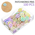 100pcs Patchwork Pins Button Bow Tie Head Pins Quilting Tools Sewing Manual