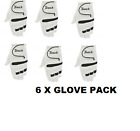 "6 x TOUCH ALL WEATHER Mens Left-Hand Golf Gloves FOR RIGHT HANDED PLAYERS ""NEW"""