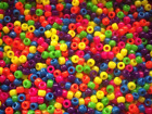 100 Mini Pony Beads Mixed Neon, Glitter or Transparent ,FOR DUMMY CLIPS,BRADING