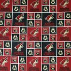 """NHL Arizona Coyotes Cotton Fabric by the 1/4, 1/2, Yard, 44""""W for Face Mask $25.99 USD on eBay"""