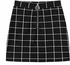 WDIRARA Women's Elegant Mid Waist Above Knee O-Ring Zipper Front Plaid Skirt