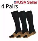 (4 Pairs) Compression Socks Stockings Graduated Support Men's Women's S-XXXL