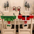 Christmas Decorations Cute Print Non-woven Elf Chair Set Stool Set Chair Cover