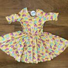 NWT Dot Dot Smile Ballerina Twirly Dress Girls Printed Yellow flying pigs